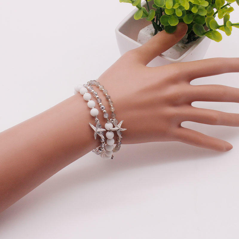 Handmade Stone And Crystal Beads Miyuki Wrap Bracelet