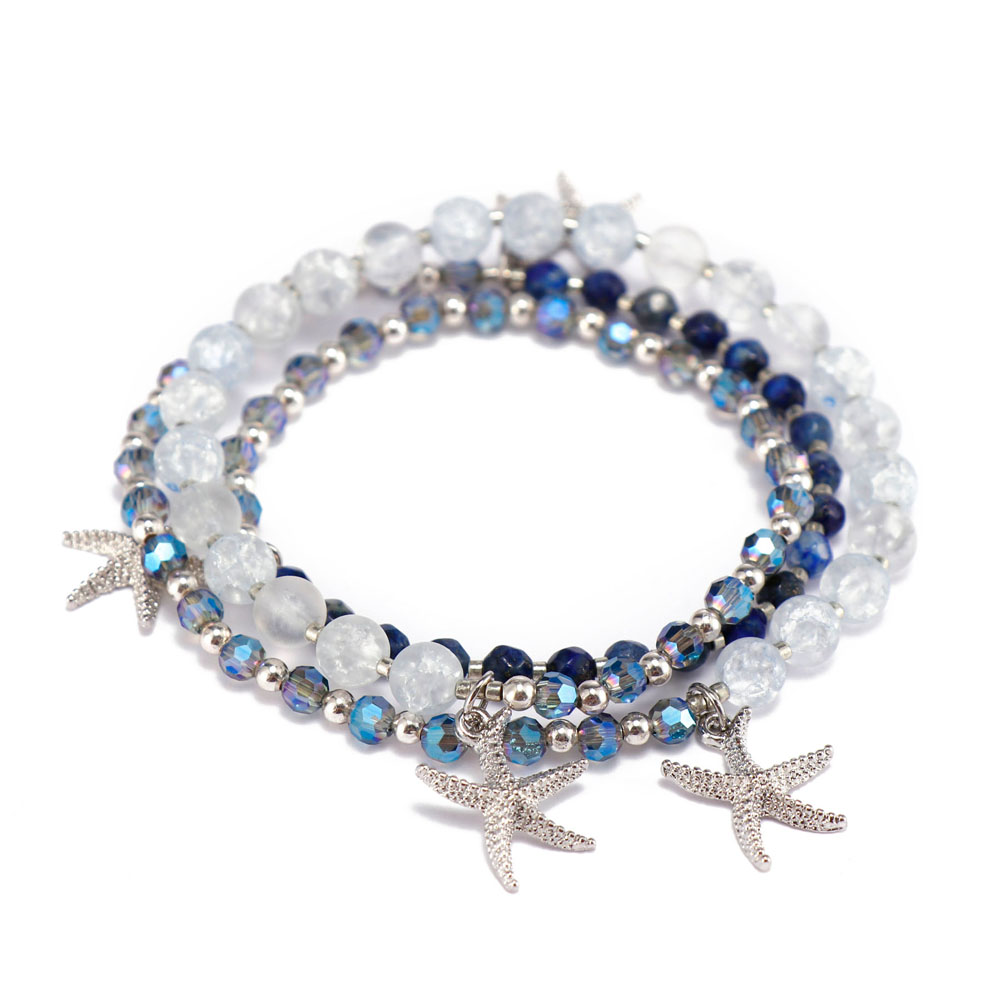 competitive price rose stone bracelet doublelayers great deal for trader-5