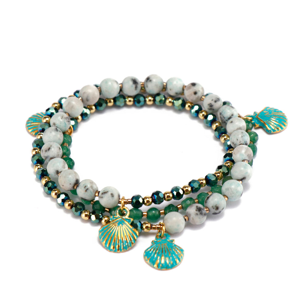 competitive price rose stone bracelet doublelayers great deal for trader-6