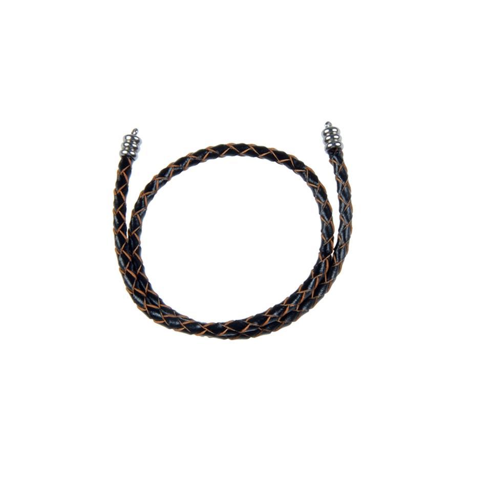 Black Double Layers Leather Wrap Bracelet