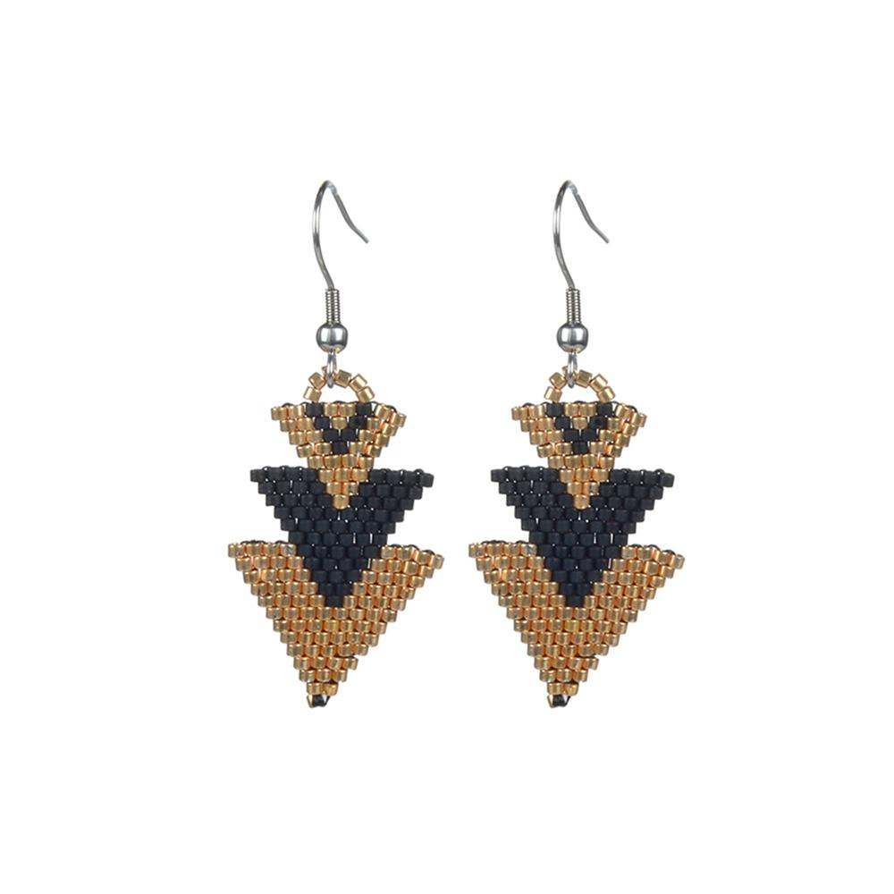 Miyuki Seed Bead Drop Earrings For Women