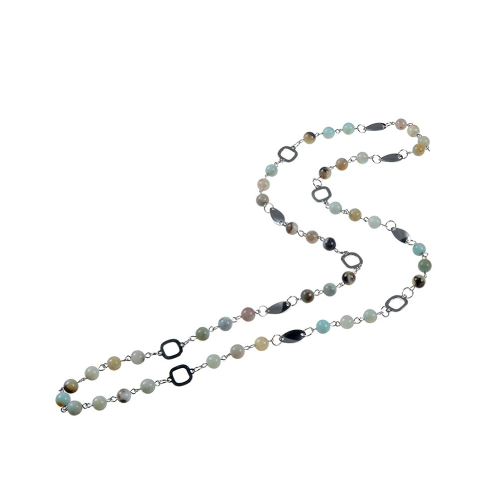 Long Stone Bead Necklace Handmade Wholesale