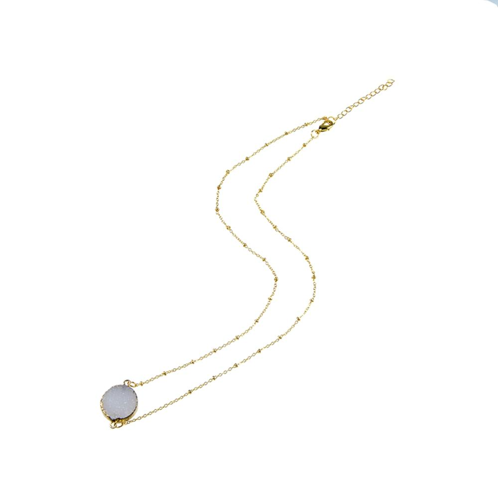 Druzy Pendant Copper Necklace Handmade Wholesale