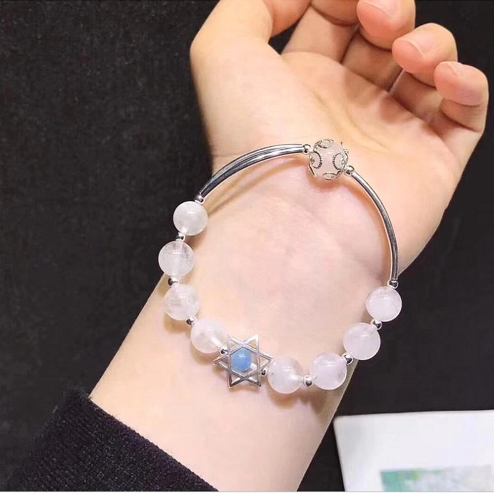 Wholesale Handmade Moonstone Silver Charms Bracelet
