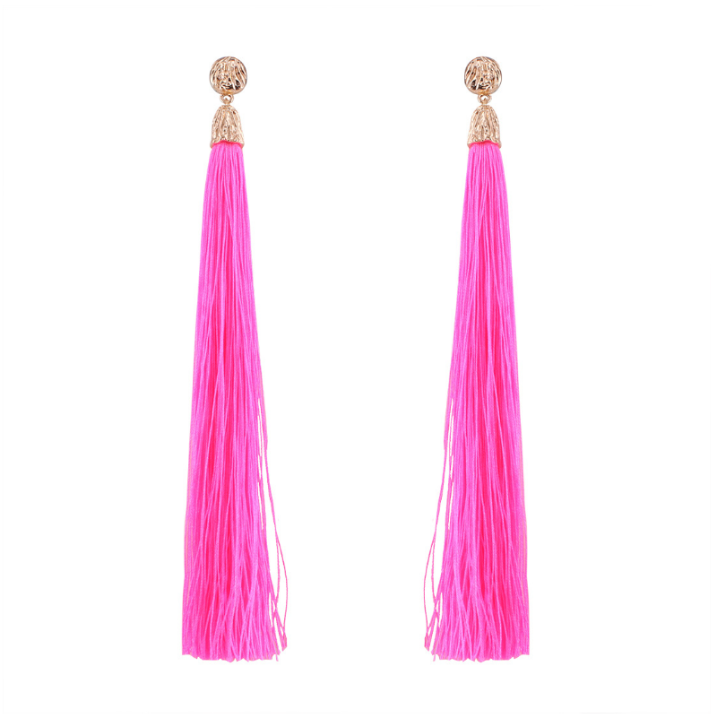Wholesale Handmade Bohemia Chic Long Tassel Earrings