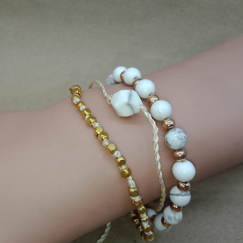 Wholesale Handmade Mutilayer Stone Bead Bracelet