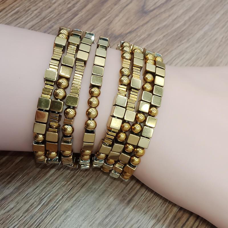 Wholesale Handmade Bohemia Hematite Boho Bracelet