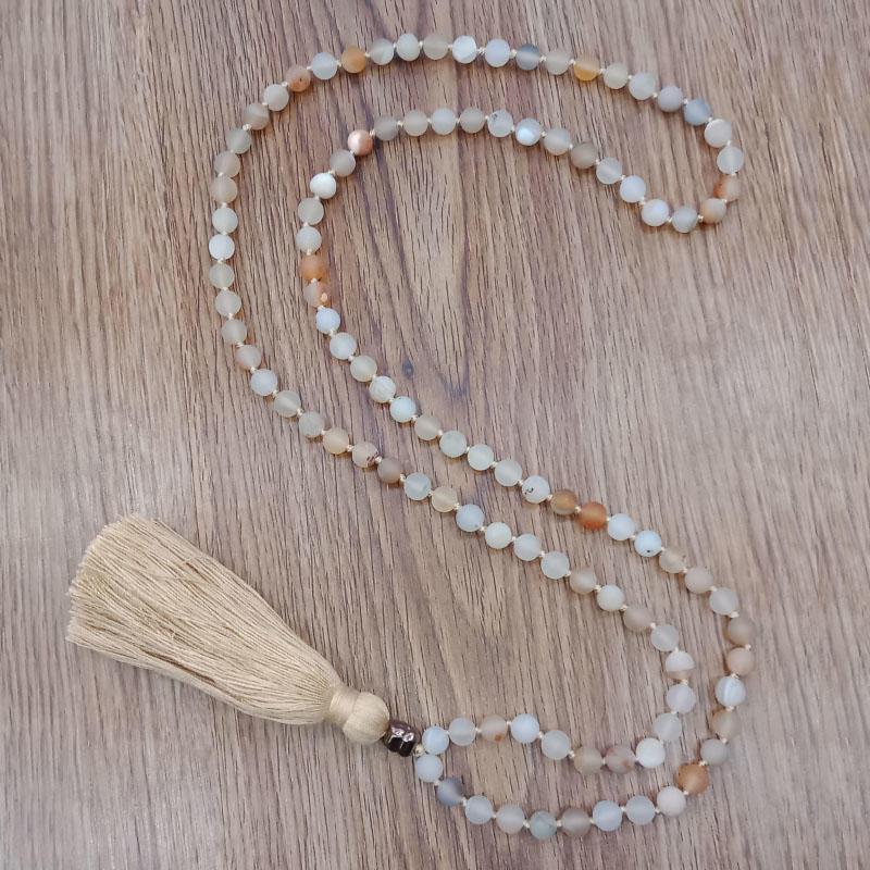 Wholesale Handmade Mala 108 Natural Stone Beads Necklace