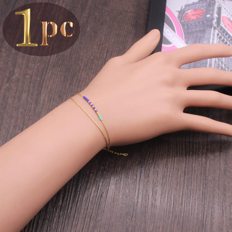 Japanese Miyuki Seed Bead Copper Bracelet