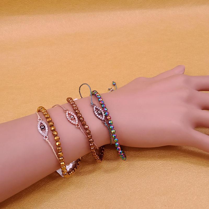 Hematite Beads Double-layers Evil Eye Bracelet Wholesale Handmade