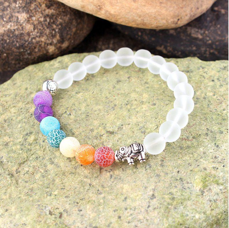 Wholesale Handmade 7 Chakra Moonstone Bracelet For Women