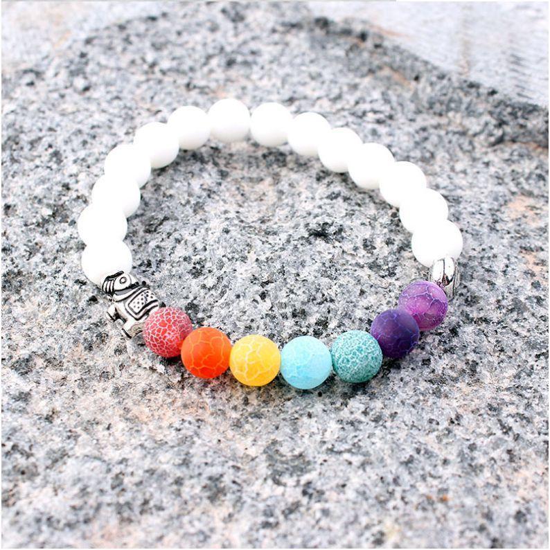 Wholesale Handmade 7 Chakra Moonstone Bracelet For Women