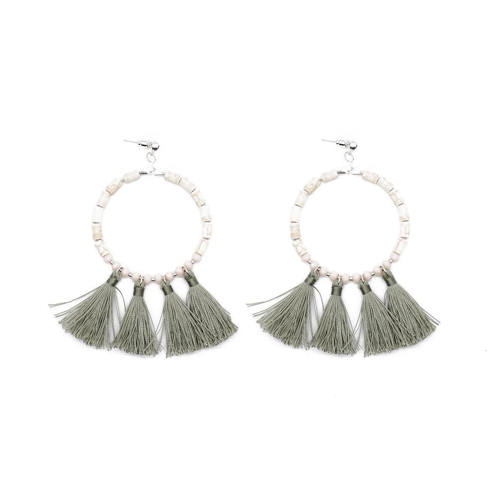 TTT Jewelry Brand handmade beaded women tassel earrings manufacture