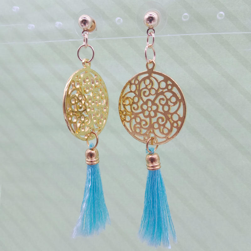 Wholesale Handmade Brass Tassel Earrings