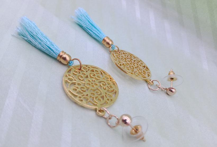 Handmade Brass Tassel Earrings