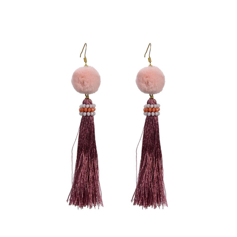 Custom women tassel earrings tassel TTT Jewelry