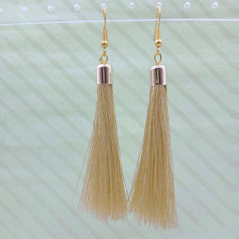 Wholesale Handmade Gold Tassel Earrings