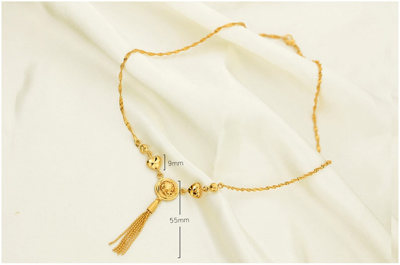 Gold Filled Tassel Necklace