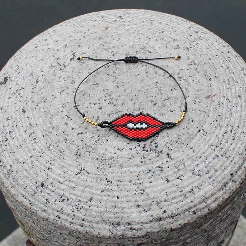 Japanese Miyuki Seed Bead Lips Bracelet