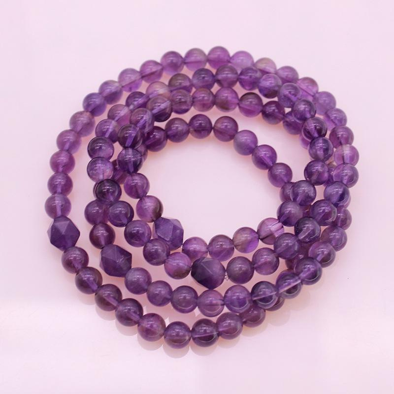 Amethyst Beads Wrap Bracelet/Necklace February Birthstone Jewelry
