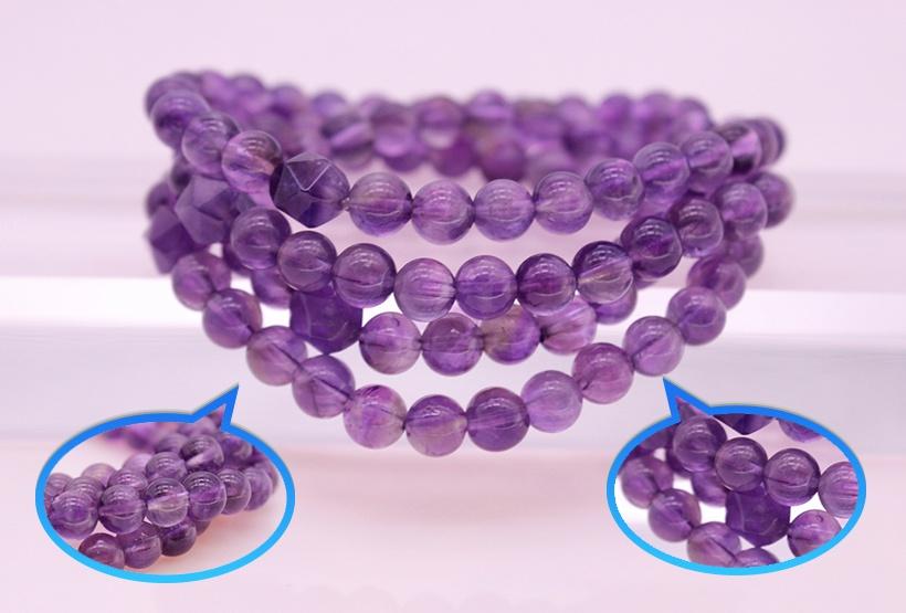 Amethyst Beads Wrap Bracelet/Necklace February Birthstone Jewelry