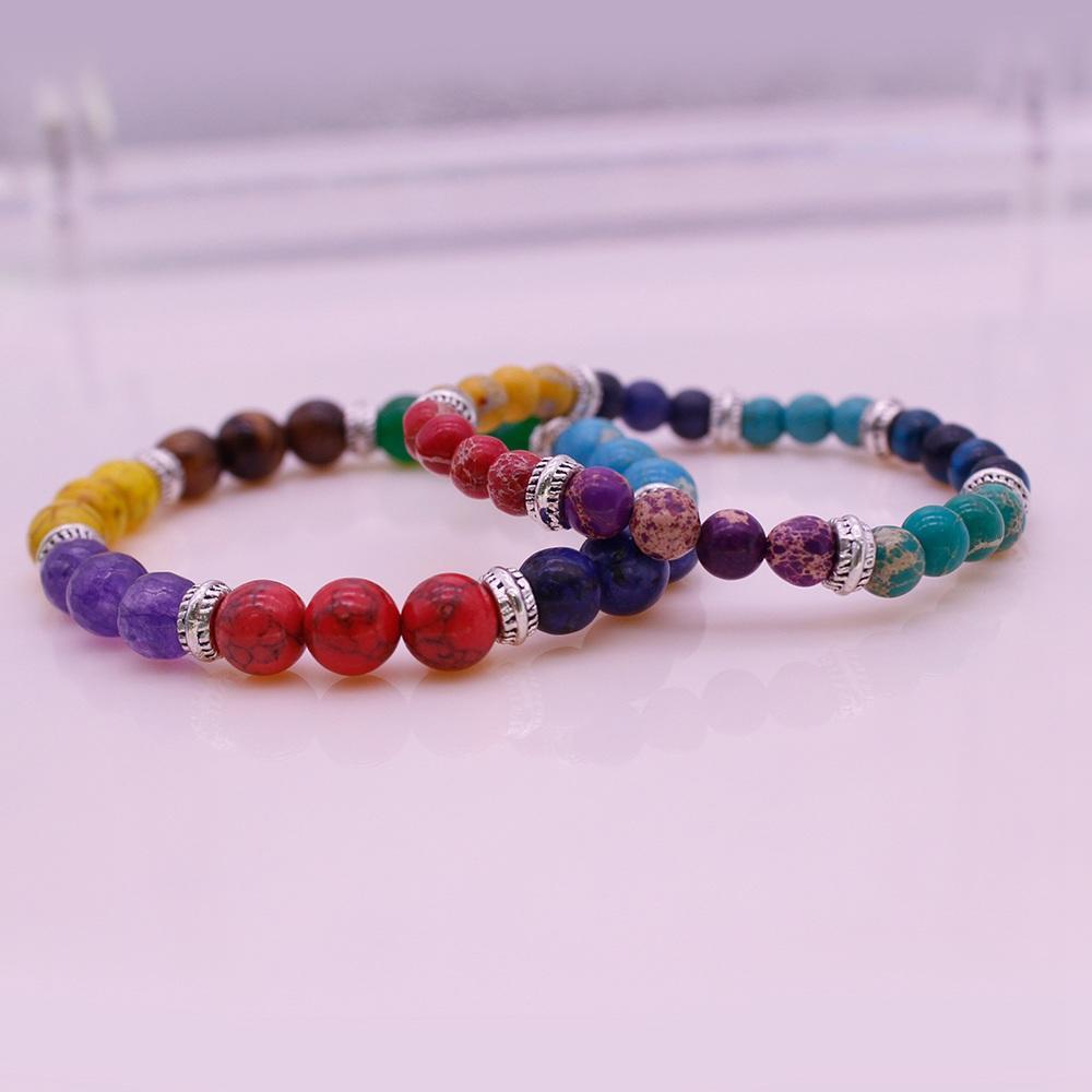 7 Chakra Bracelet His & Her Couple Bracelet For Valentine Jewelry