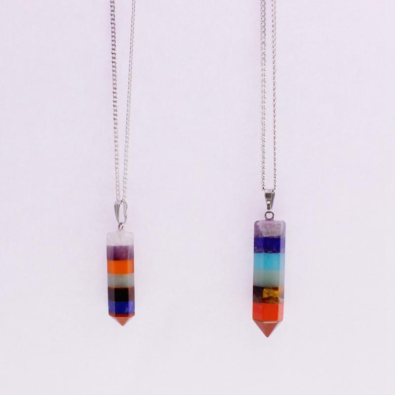 Colorful Crystal Pendant Necklace Valentine Couple Relationship Gift
