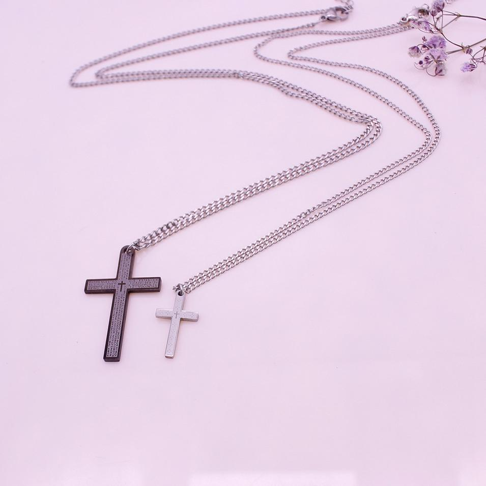 Cross Pendant Valentine His&Her Couple Necklace