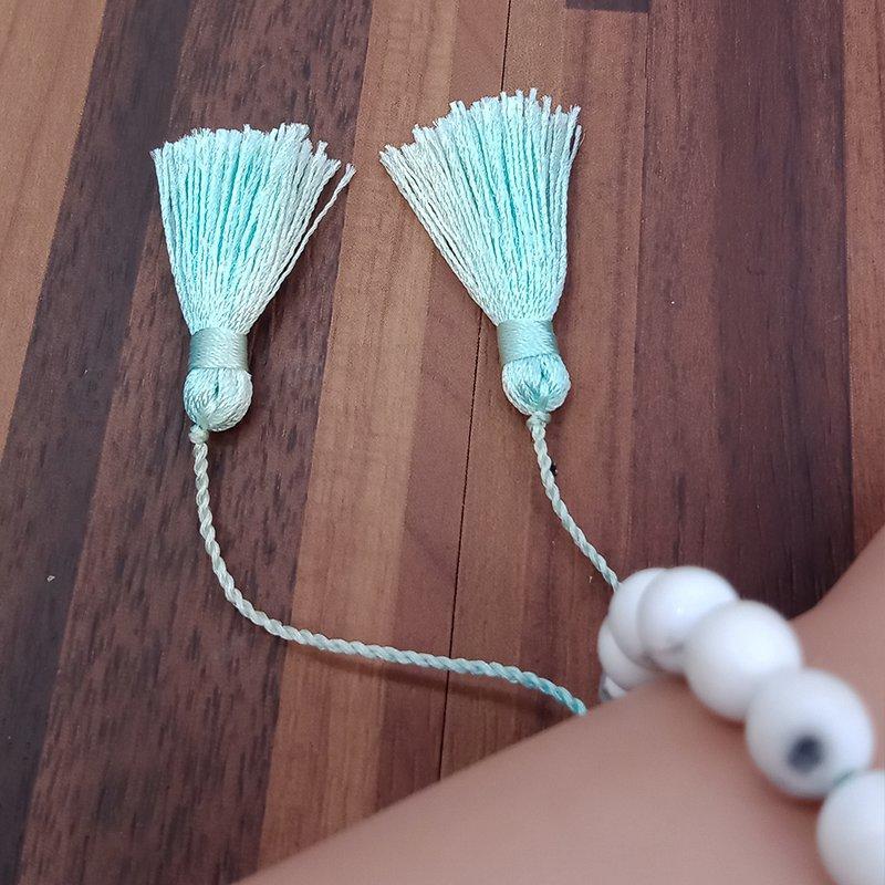 Howlite Stone Beads Tassel Bracelet Energy Bracelet