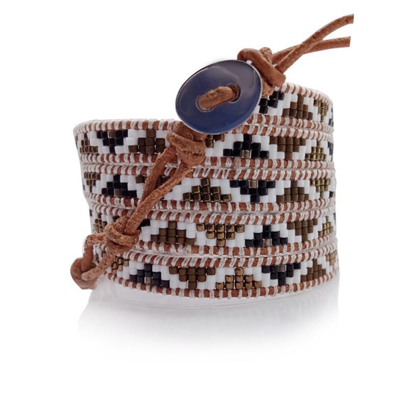 Japanese Miyuki Seed Bead 5 Wraps Wrap Bracelet Handmade