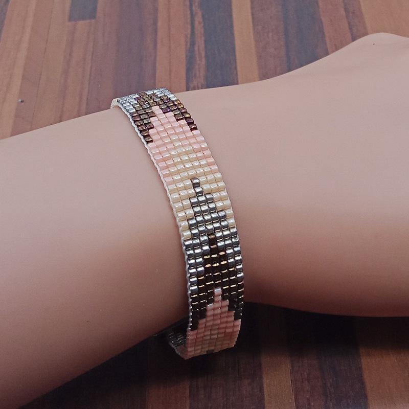 Handmade Miyuki Seed Bead Copper Clasp Bracelet