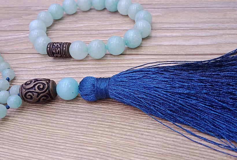 Amazonite Beads Malas Yoga Necklace&Bracelet Set