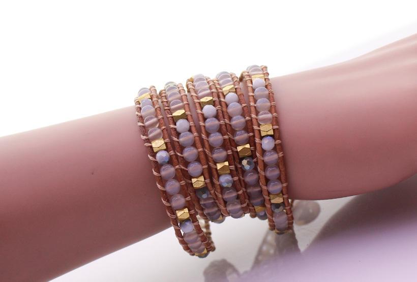 TTT Jewelry howlite white wrap bracelet trade partner for gift