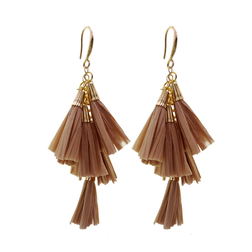 Daydreamer Tassel Earrings Fashion Raffia Earring Bright Color