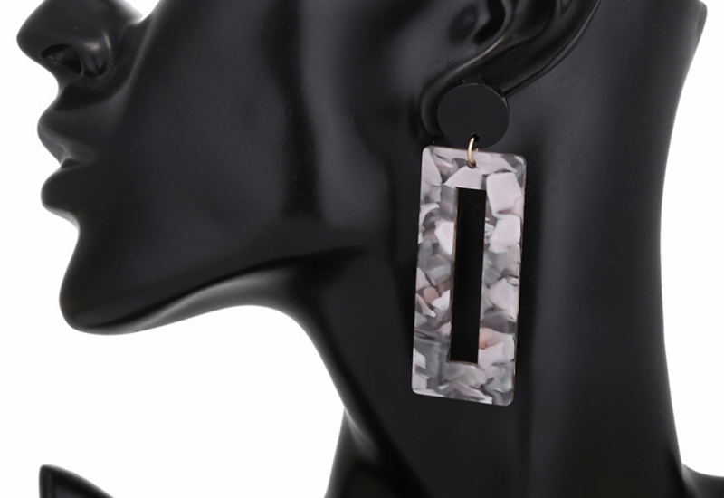 Handmade Tortoiseshell Acrylic Resin Square Earrings