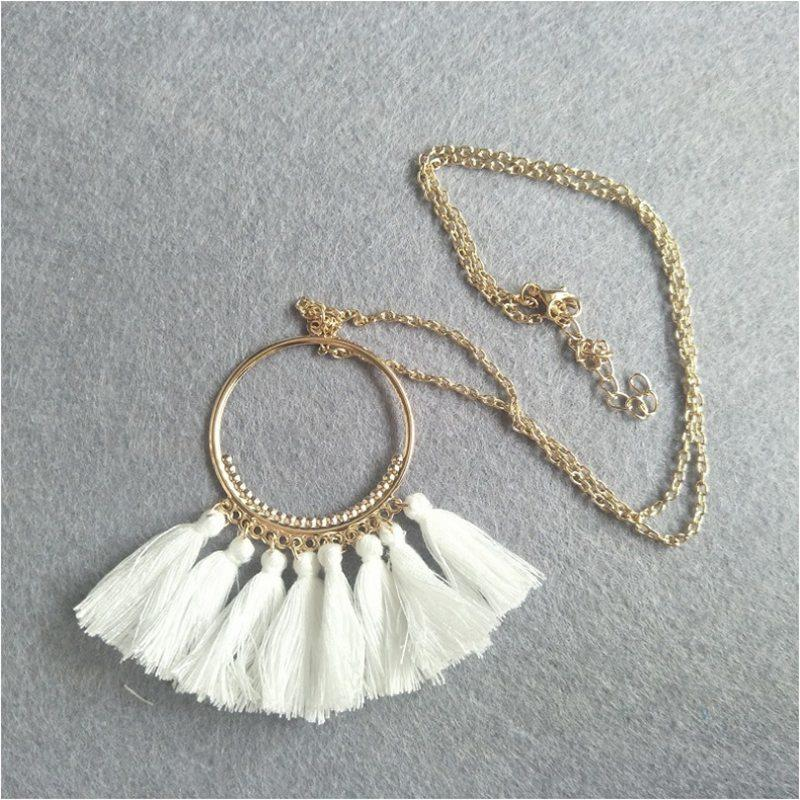 Spring Trendy Colorful Tassel Necklace