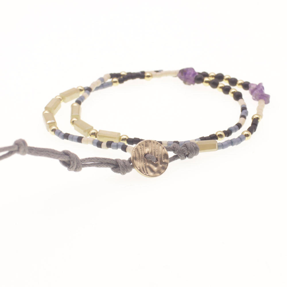Miyuki Seed Bead Double Layer Bracelet