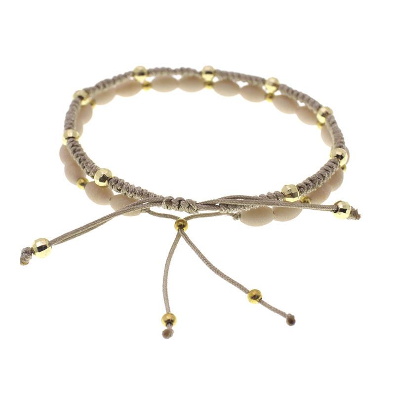 Crystal Copper Beads Jade Rope Woven Bracelet
