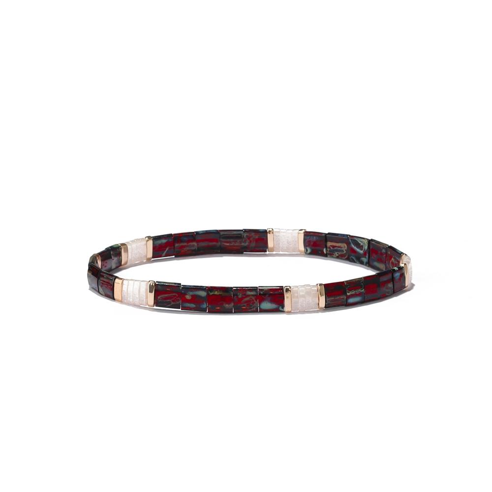 matte tila bead bracelet