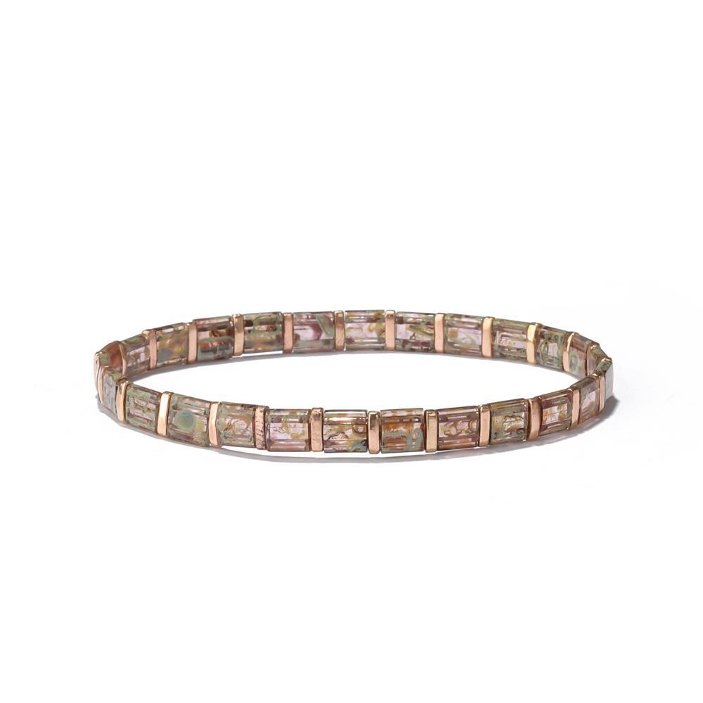 2019 Trendy Hot Sale Summer Marine Miyuki Flat Square Seed Clear Bright Tila Bead Bracelet