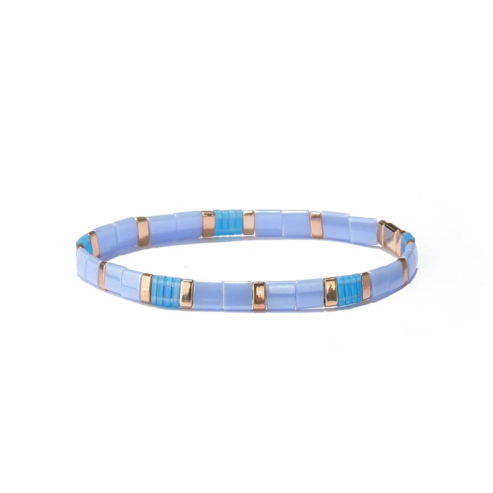 2019 New Fashion Japan Miyuki Seed Bead Matte Colorful Tila Bead Bracelet for Women