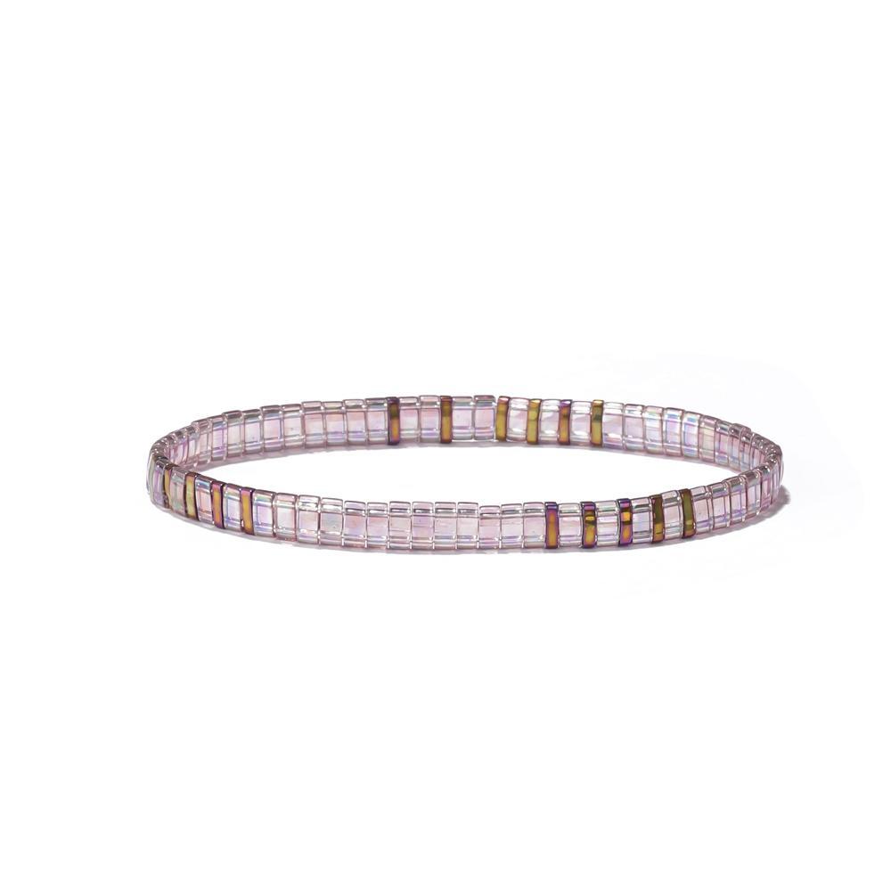 Miyuki Half Quarter Tila Bead Bracelet