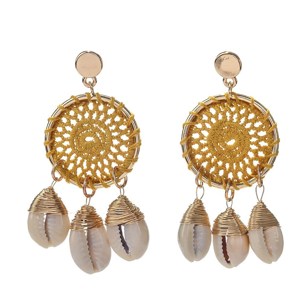 TTT Jewelry 2019 Trendy New Design Korean Style Rattan Weave Fashion Sea Beach Summer Earrings