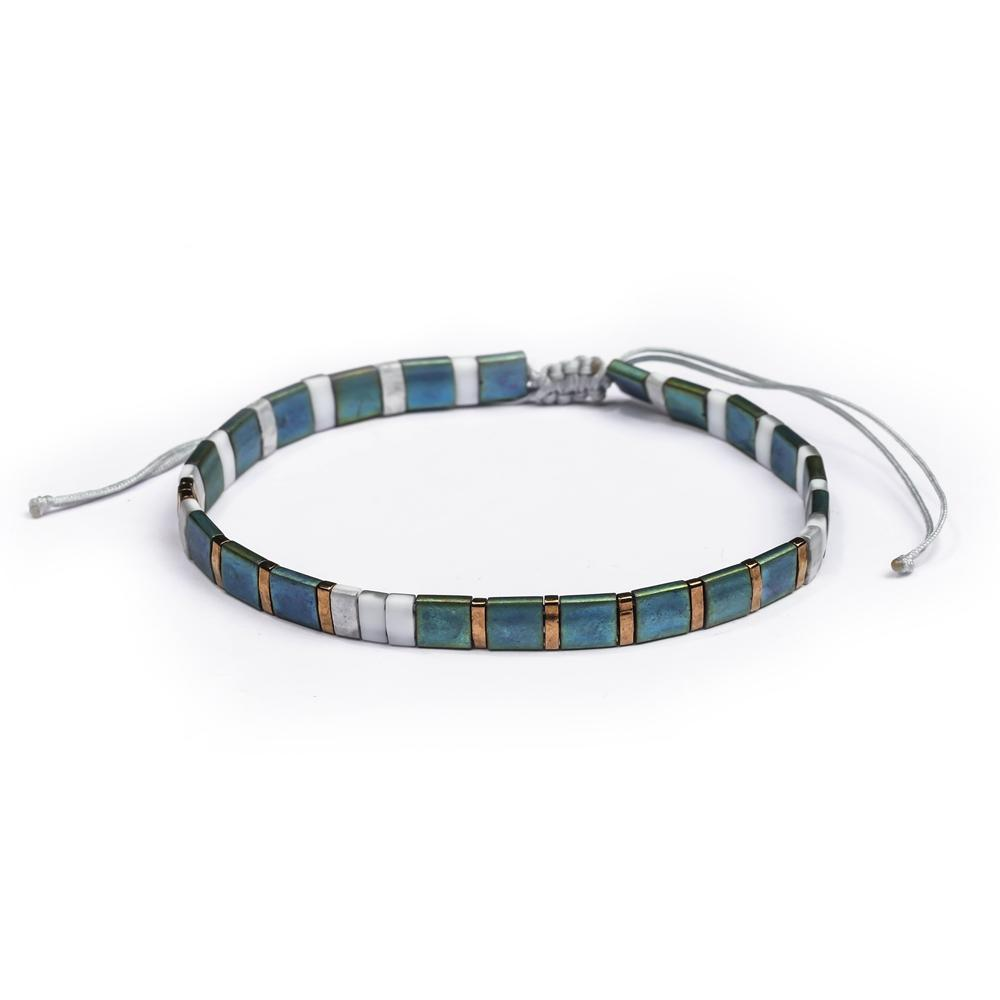 Tila Flat Stretch Square Bracelet