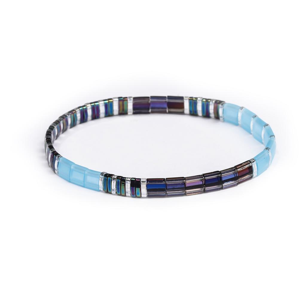 Tila Flat Stretch Square Bracelet
