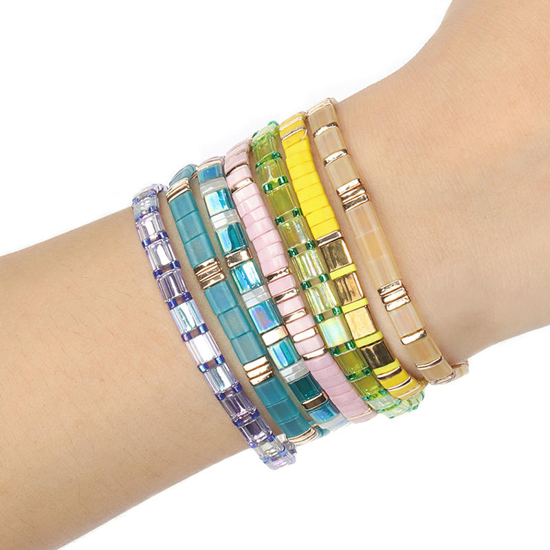 Beautiful Personalized Modern Mexican Women Girls Miyuki Tila Bead Handmade Bulk Custom Wholesale Friendship Bracelet