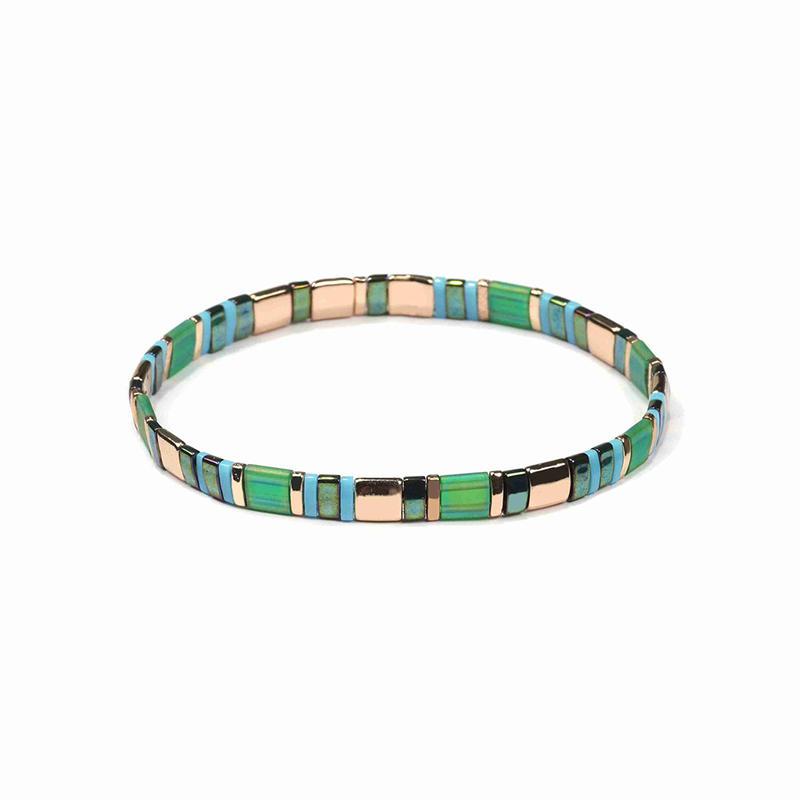 Personnalisable Bijoux Fantaisie Chine Handmade Colorful Japanese Miyuki Seed Bead Tila Perles Bracelet Femme