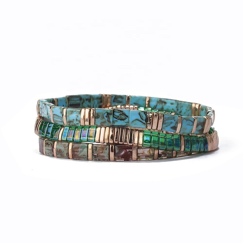 Bulk Personalised Custom Wholesale Modern Women Boy and Girls Rainbow Bead Handmade Friendship Bracelet