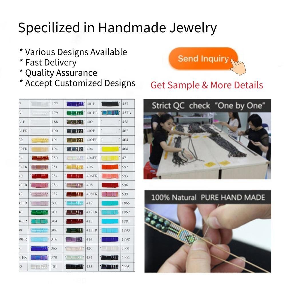 Top Quality Fancy New Design Models Miyuki Tila Beaded Handmade Jewelry Women Ladies Bracelet