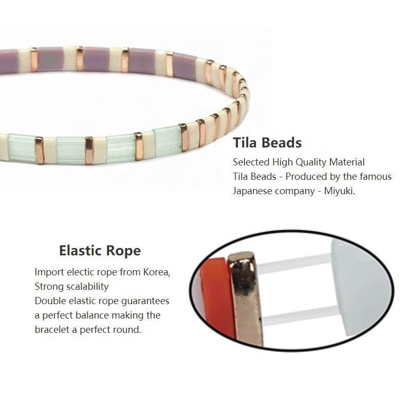 TTT Jewelry Handmade Stacking Fashion Korea Style Friendship Miyuki Tila Bead Korean Bracelet